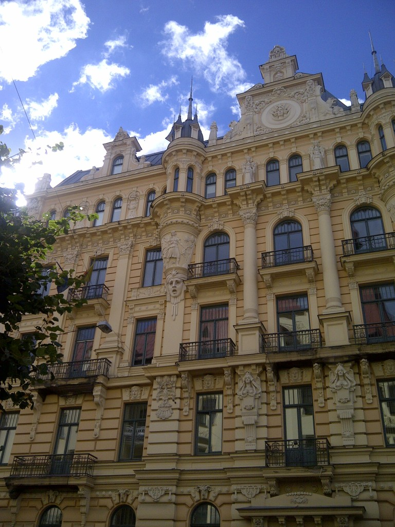 Riga is littered with buildings like this