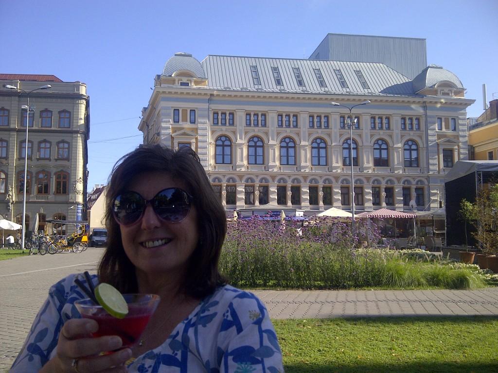 A sundowner in Riga